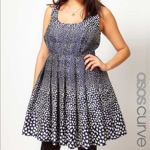 ASOS CURVE Heart Print Dress